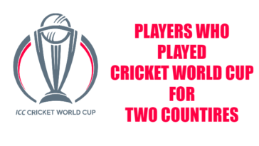 Players who Played for two countries in the Cricket world Cup