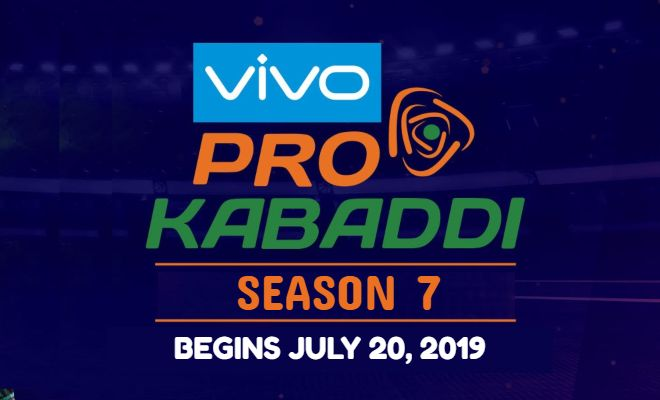 VIVO Pro Kabaddi Season 7 schedule announced