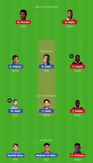 AFG vs WI Dream11 Team Prediction Match 42 CWC 2019