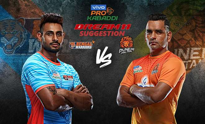 Bengal Warriors vs Puneri Paltan Dream11 Team Match 17 Pro Kabaddi 2019