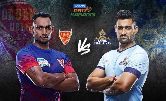 Dabang Delhi K.C. vs Tamil Thalaivas Dream11 Team Match 9 Pro Kabaddi 2019