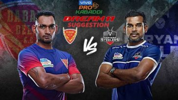 Dabang Delhi KC vs Haryana Steelers Dream11 Team Match 14 Pro Kabaddi 2019