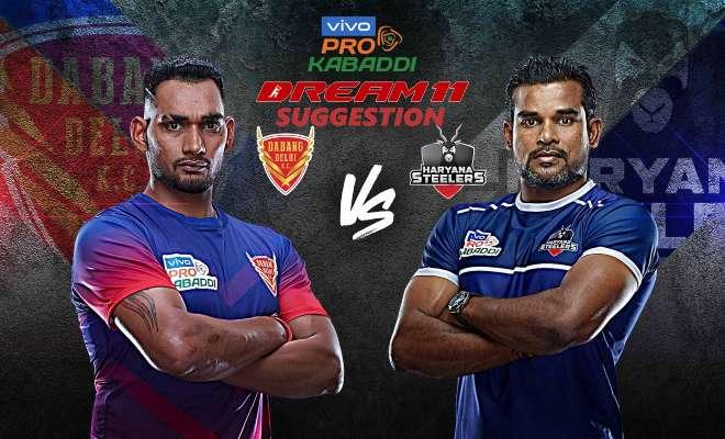 Dabang Delhi KC vs Haryana Steelers Dream11 Team Match 14 Pro Kabaddi 2019