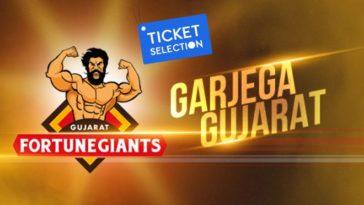 Gujarat Fortunegiants Pro Kabaddi Ticket Booking