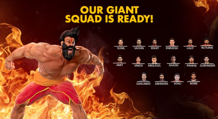 Gujarat Fortunegiants Team 2019 Squad Player List Pro Kabaddi League