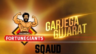 Gujarat Fortunegiants Team Squad Player List Pro Kabaddi League