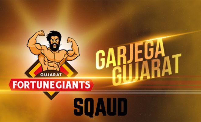Gujarat Fortunegiants Team Squad Player List Pro Kabaddi League