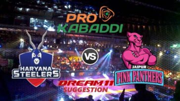 Haryana Steelers vs Jaipur Pink Panthers Dream11 Team Match 18 Pro Kabaddi 2019