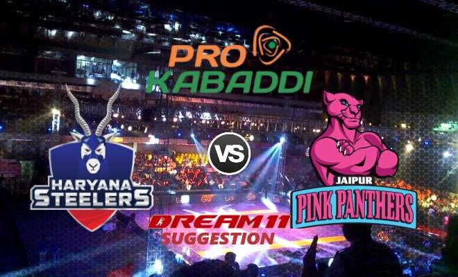 Haryana Steelers vs Jaipur Pink Panthers Dream11 Team Match 18 Pro Kabaddi 2019
