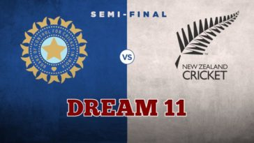 India vs New Zealand Dream11 Team Semifinal 1 CWC 2019