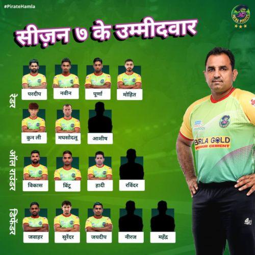 Patna Pirates Team 2019 Squad Player List Pro Kabaddi League Season 7