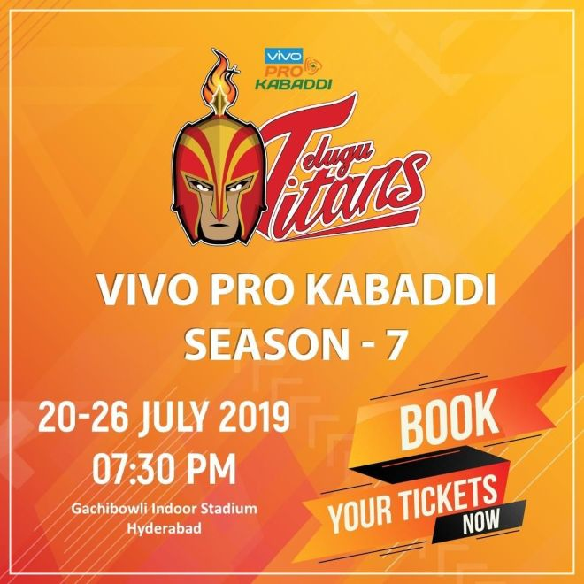 Telugu Titans Hyderabad Pro Kabaddi 2019 Ticket Booking Events Now