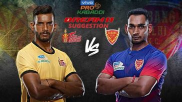 Telugu Titans vs Dabang Delhi K.C. Dream11 Team Match 8 Pro Kabaddi 2019