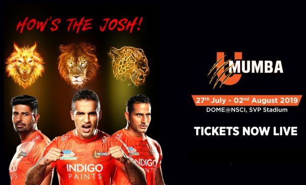 U Mumba Mumbai Pro Kabaddi 2019 Ticket Booking Insider