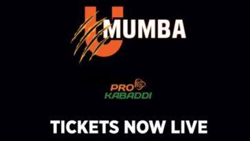 U Mumba Mumbai Pro Kabaddi Ticket Booking