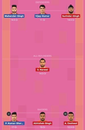 U Mumba vs Bengaluru Bulls Dream11 Team 1 Match 15 Pro Kabaddi 2019