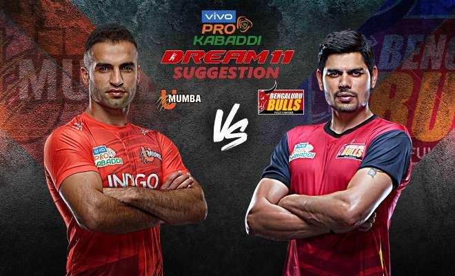 U Mumba vs Bengaluru Bulls Dream11 Team Match 15 Pro Kabaddi 2019