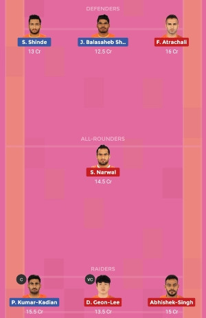 U Mumba vs Puneri Paltan Dream11 Team 1 Match 12 Pro Kabaddi 2019