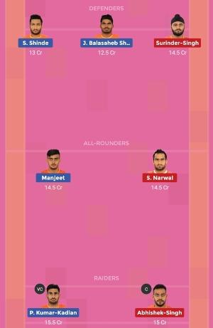 U Mumba vs Puneri Paltan Dream11 Team 2 Match 12 Pro Kabaddi 2019