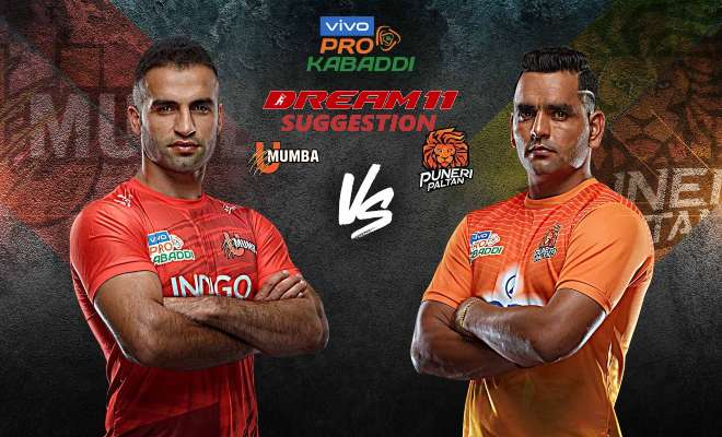 U Mumba vs Puneri Paltan Dream11 Team Match 12 Pro Kabaddi 2019