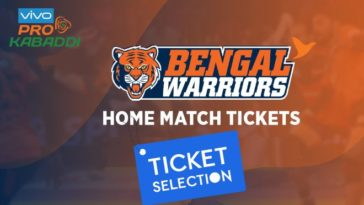 Bengal Warriors Kolkata Pro Kabaddi Ticket Booking