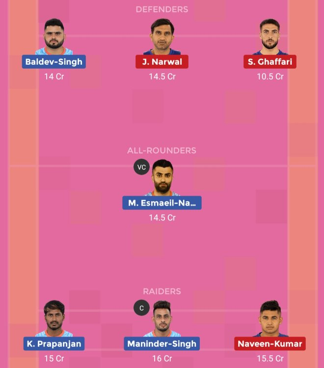 Bengal Warriors vs Dabang Delhi KC Dream11 Team 1 Match 46 Pro Kabaddi 2019