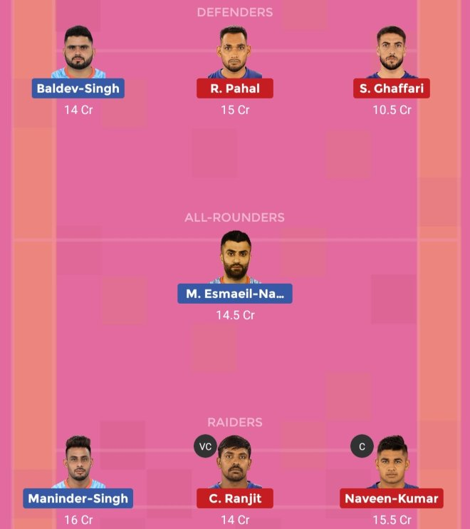 Bengal Warriors vs Dabang Delhi KC Dream11 Team 2 Match 46 Pro Kabaddi 2019