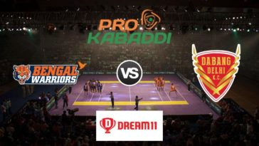 Bengal Warriors vs Dabang Delhi KC Dream11 Team Match 46 Pro Kabaddi 2019