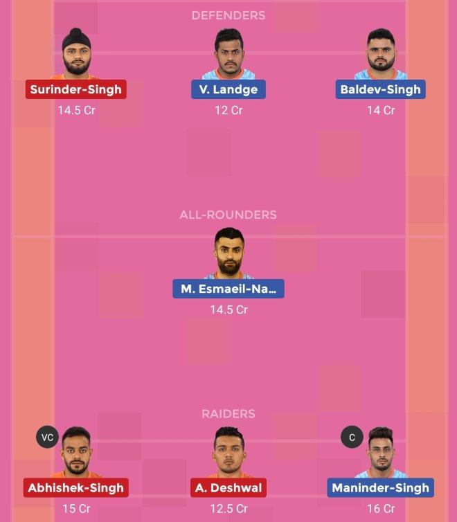 Bengal Warriors vs U Mumba Dream11 Team 1 Match 32 Pro Kabaddi 2019