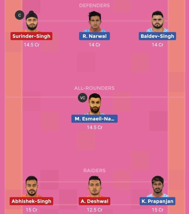 Bengal Warriors vs U Mumba Dream11 Team 2 Match 32 Pro Kabaddi 2019