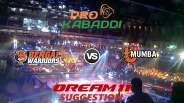 Bengal Warriors vs U Mumba Dream11 Team Match 32 Pro Kabaddi 2019