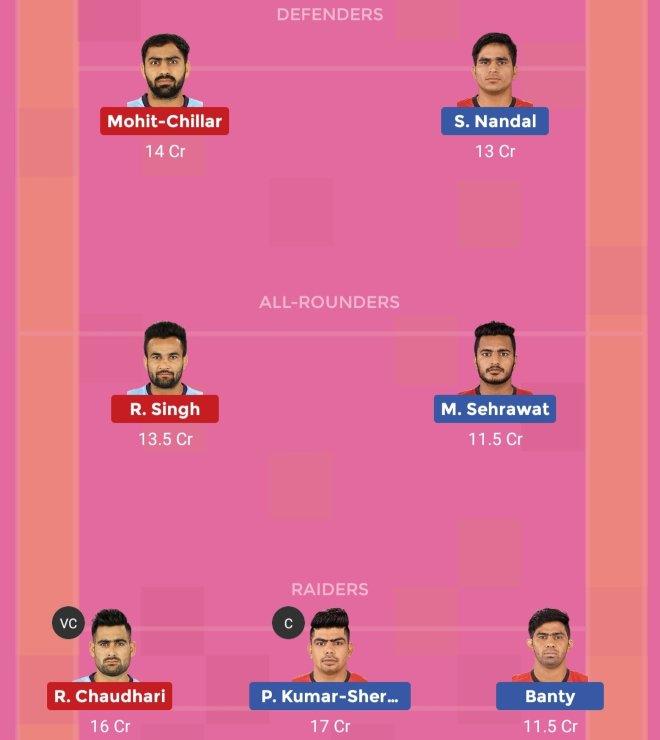 Bengaluru Bulls vs Tamil Thalaivas Dream11 Team Prediction Match 70 Pro Kabaddi 2019