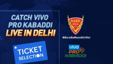 Dabang Delhi KC Pro Kabaddi Ticket Booking