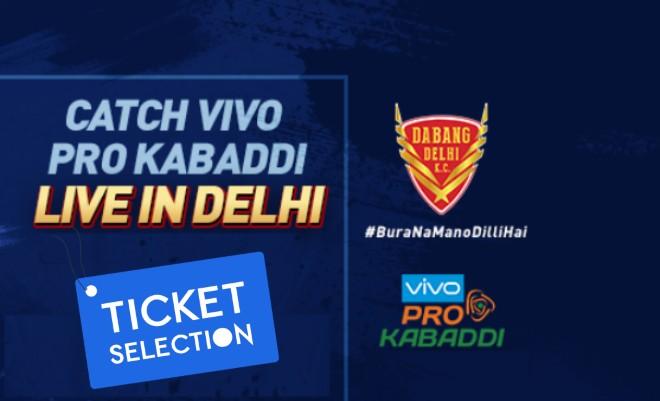 Dabang Delhi KC Pro Kabaddi Ticket Booking