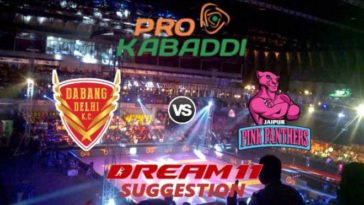 Dabang Delhi KC vs Jaipur Pink Panthers Dream11 Team Match 27 Pro Kabaddi 2019
