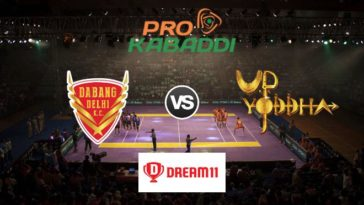 Dabang Delhi vs UP Yoddha Dream11 Team Prediction Match 59 Pro Kabaddi 2019