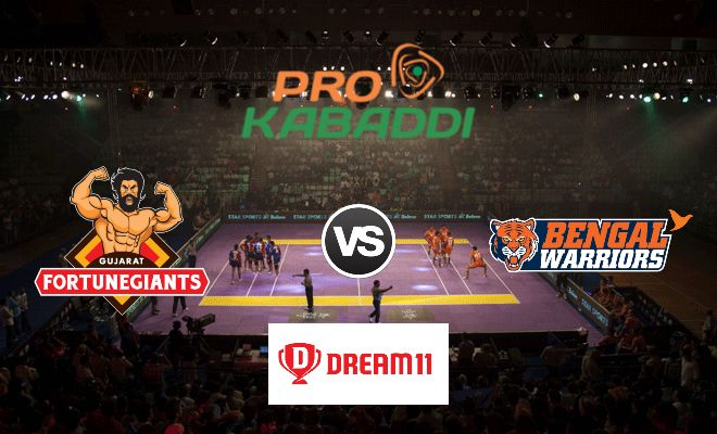 Gujarat Fortunegiants vs Bengal Warriors Dream11 Team Match 41 Pro Kabaddi 2019