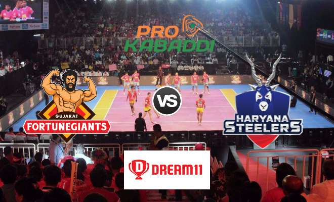Gujarat Fortunegiants vs Haryana Steelers Dream11 Team Prediction Match 62 Pro Kabaddi 2019
