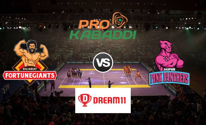Gujarat Fortunegiants vs Jaipur Pink Panthers Dream11 Team Match 44 Pro Kabaddi 2019