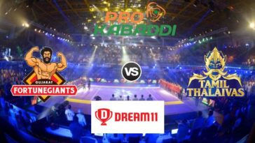 Gujarat Fortunegiants vs Tamil Thalaivas Dream11 Team Match 34 Pro Kabaddi 2019