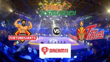 Gujarat Fortunegiants vs Telugu Titans Dream11 Team Match 37 Pro Kabaddi 2019