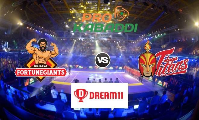 Gujarat Fortunegiants vs Telugu Titans Dream11 Team Match 37 Pro Kabaddi 2019