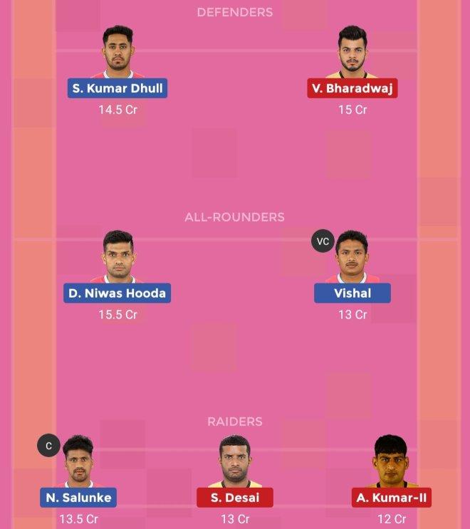 Jaipur Pink Panthers vs Telugu Titans Dream11 Prediction Team 2 Match 57 Pro Kabaddi 2019