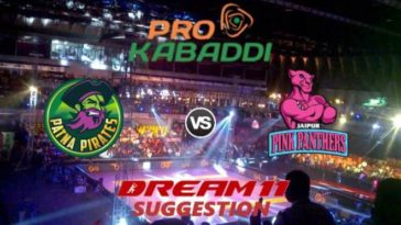 Patna Pirates vs Jaipur Pink Panthers Dream11 Team Match 23 Pro Kabaddi 2019