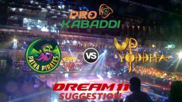 Patna Pirates vs UP Yoddha Dream11 Team Match 33 Pro Kabaddi 2019