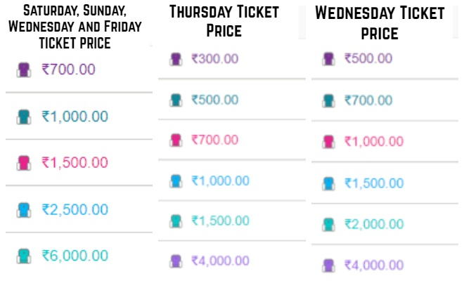 Puneri Paltan Pune Pro Kabaddi League 2019 Tickets Price List
