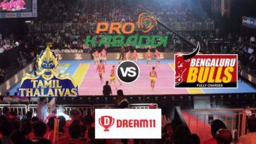 Tamil Thalaivas vs Bengaluru Bulls Dream11 Team Match 45 Pro Kabaddi 2019