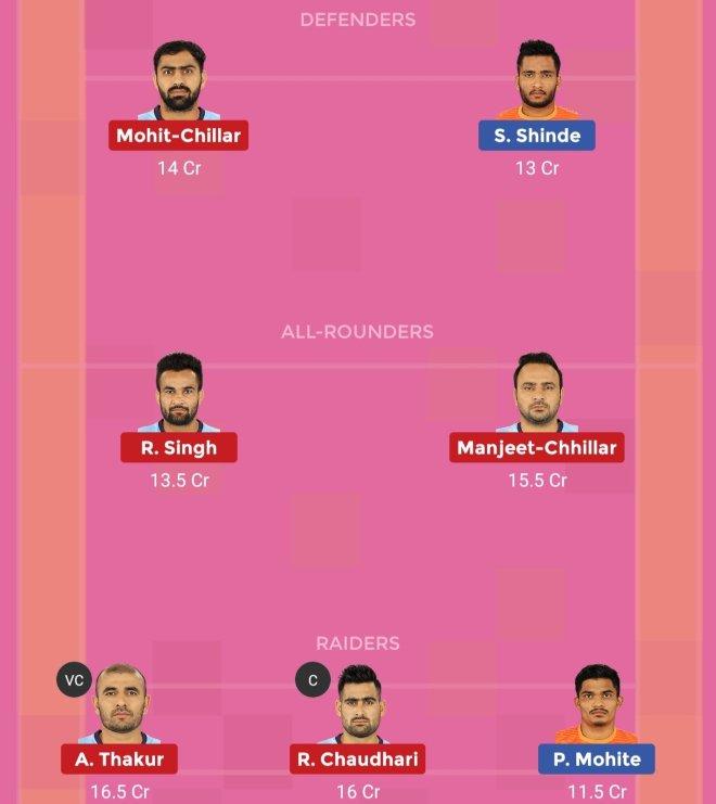 Tamil Thalaivas vs Puneri Paltan Dream11 Team 2 Match 48 Pro Kabaddi 2019