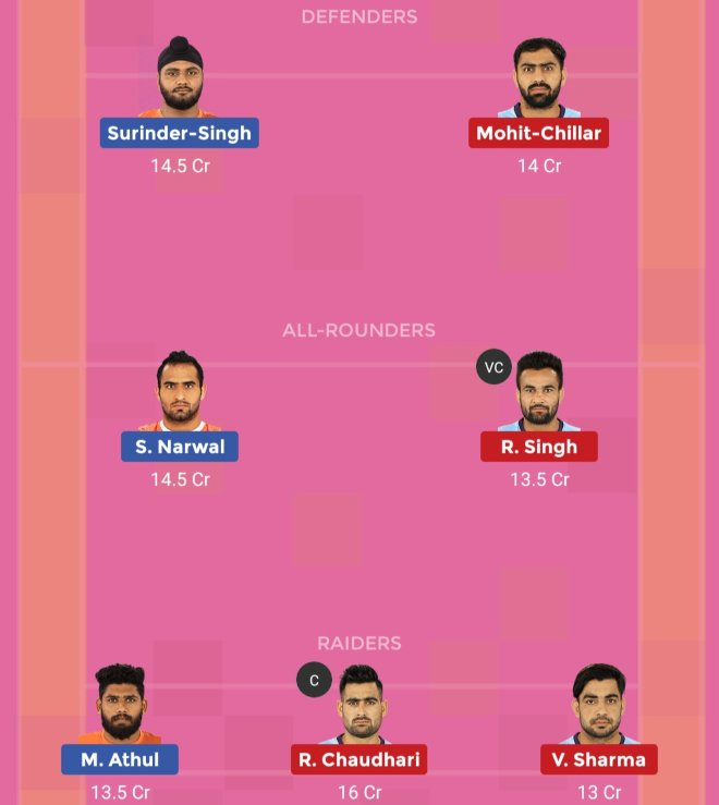 Tamil Thalaivas vs U Mumba Dream11 Team 1 Match 55 Pro Kabaddi 2019