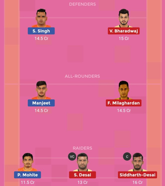 Telugu Titans vs Puneri Paltan Dream11 Team Prediction Match 65 Pro Kabaddi 2019